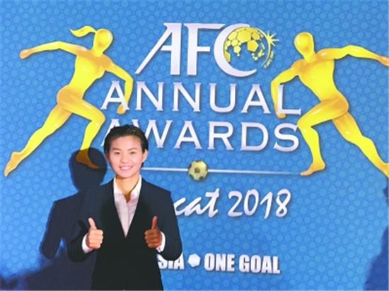 中国女足 王霜荣获亚洲足球小姐 亚洲天后
