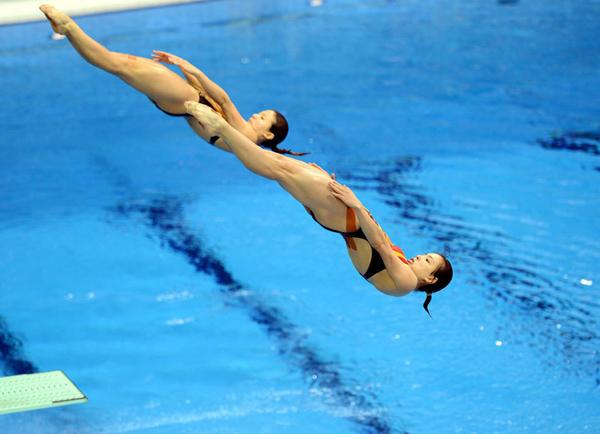 中国跳水队 伦敦奥运 吴敏霞 何姿 陈若琳