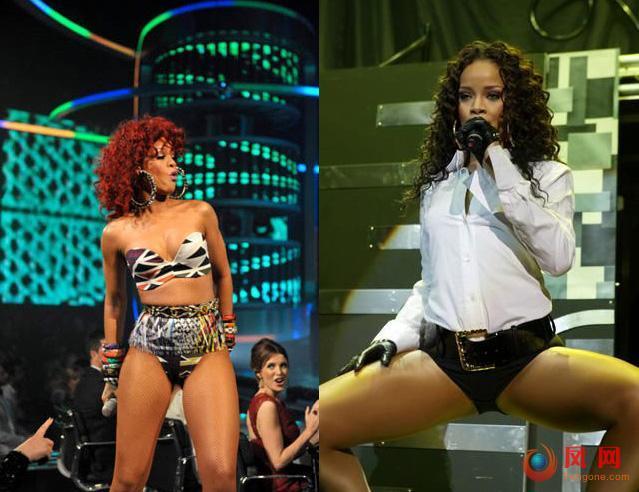 蕾哈娜跳脱衣舞被斥 公众舞台搞色情表演的明星
