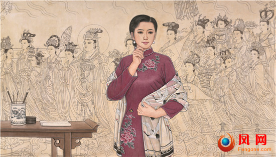 肖耀彩 女画家 工笔画 面孔